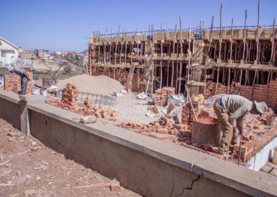 24 août 2018-Élévation mur brique
