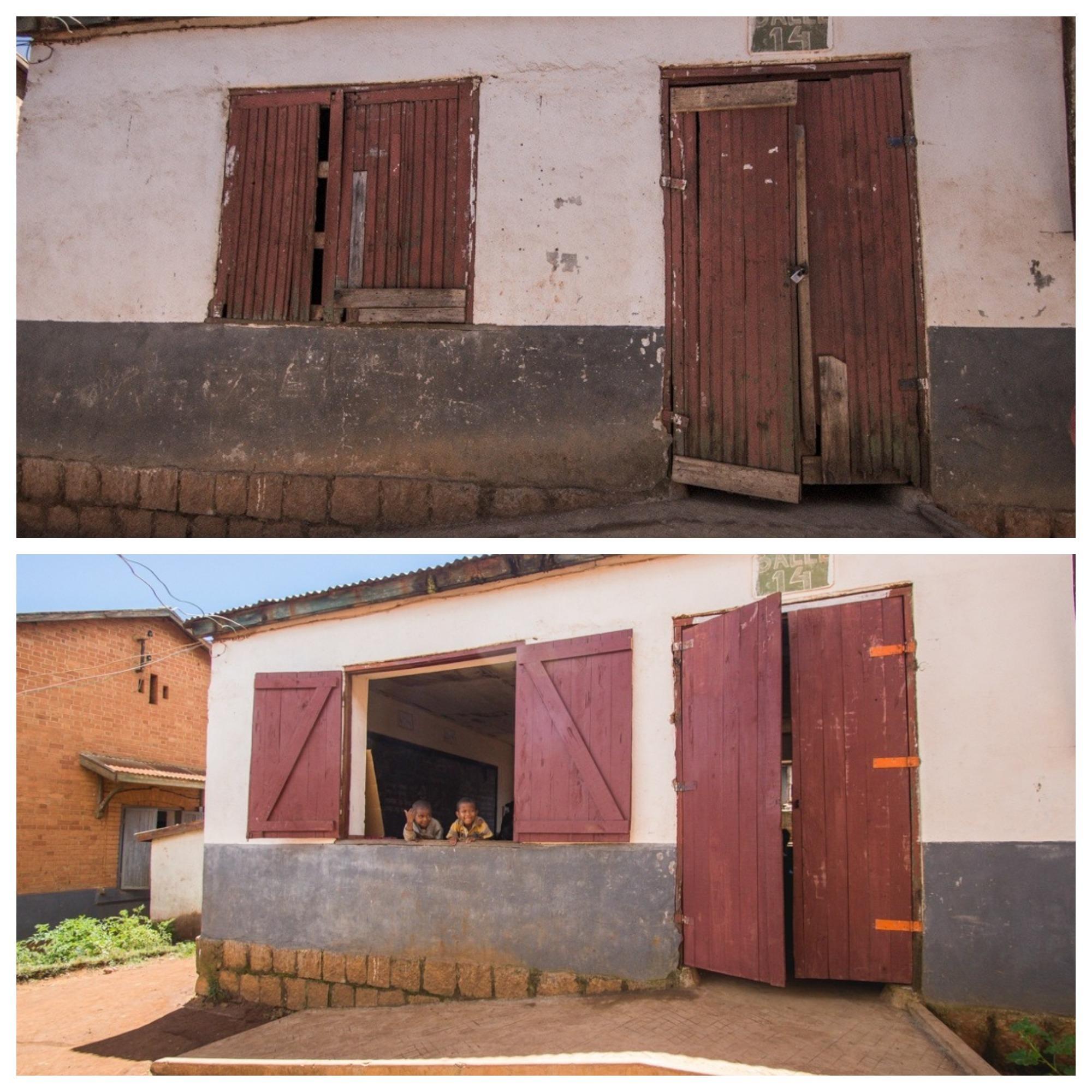 Porte et fenêtre avant après