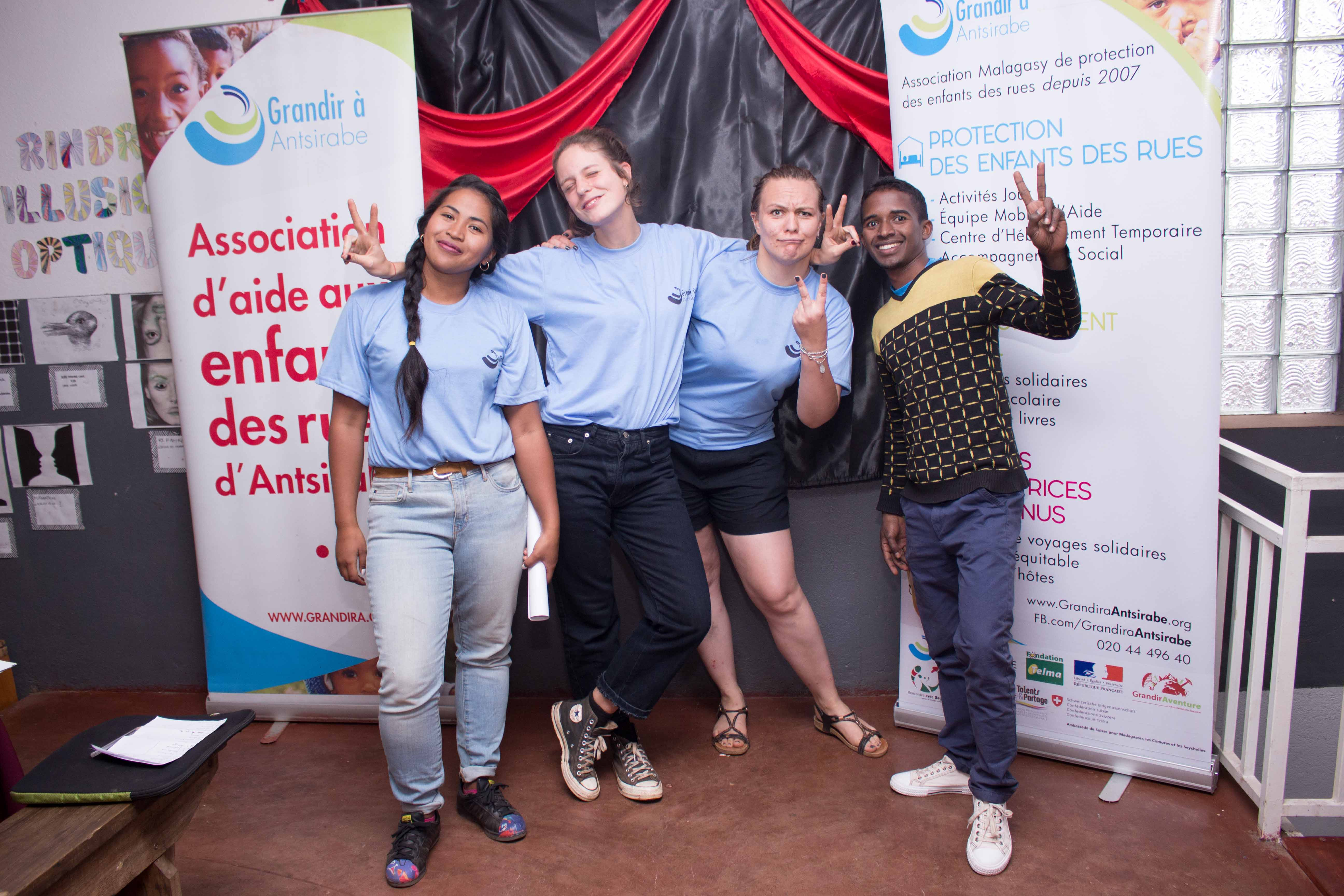 Quatre employé de Grandir à Antsirabe